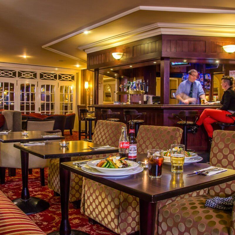 The main bar.  4 star Great Northern Hotel Bundoran, Co.Donegal